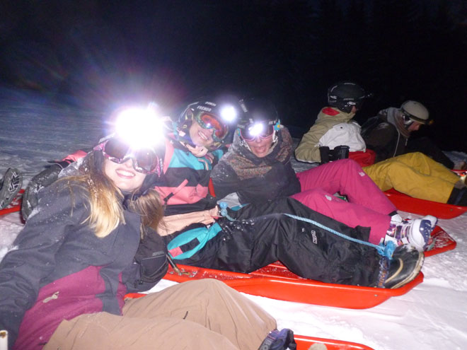 More Mountain ready to go night sledging