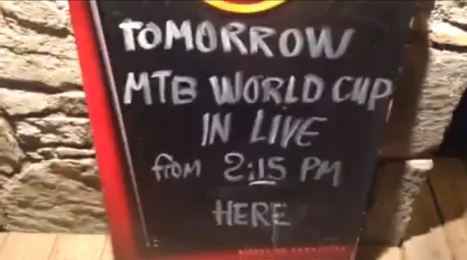Roger MTB World Cup Sign