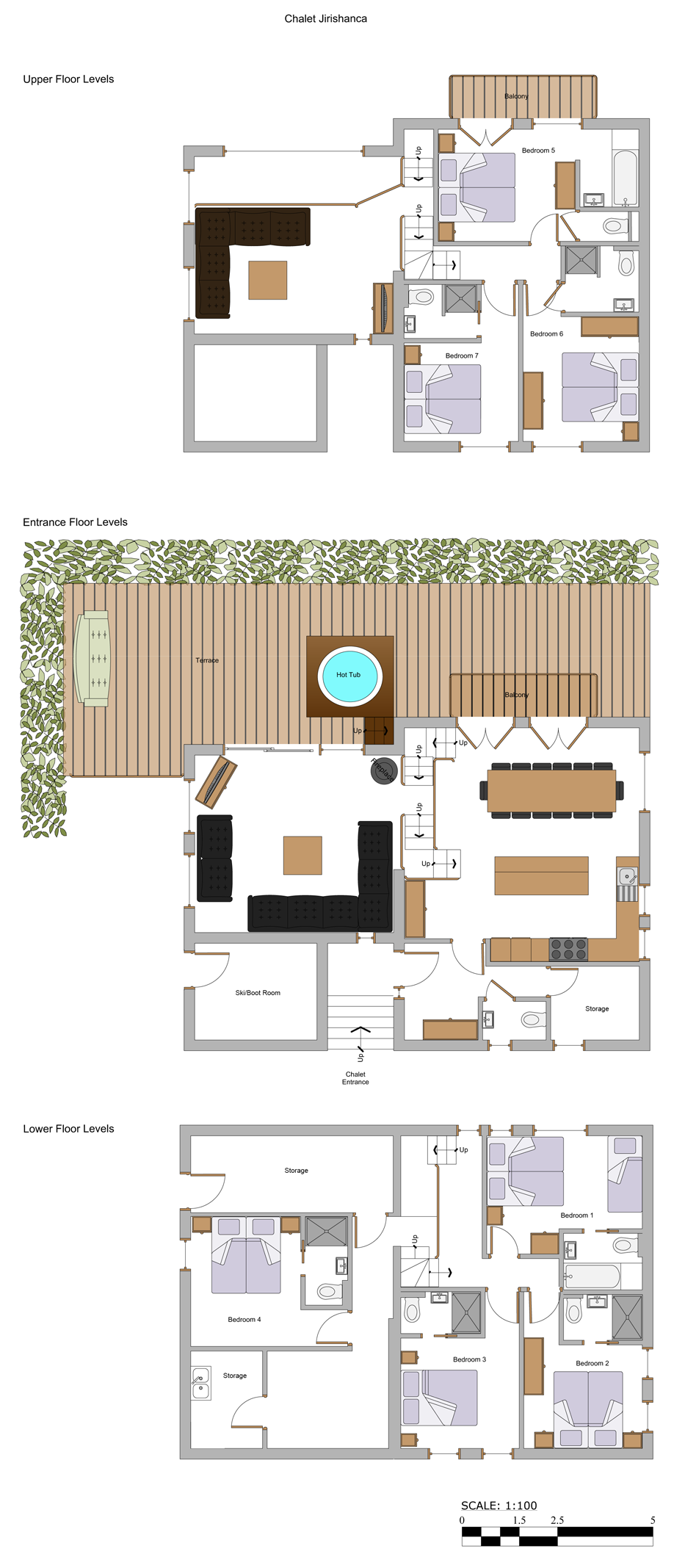 Chalet jirishanca luxury catered chalet morzine with hot tub for Mountain chalet plans