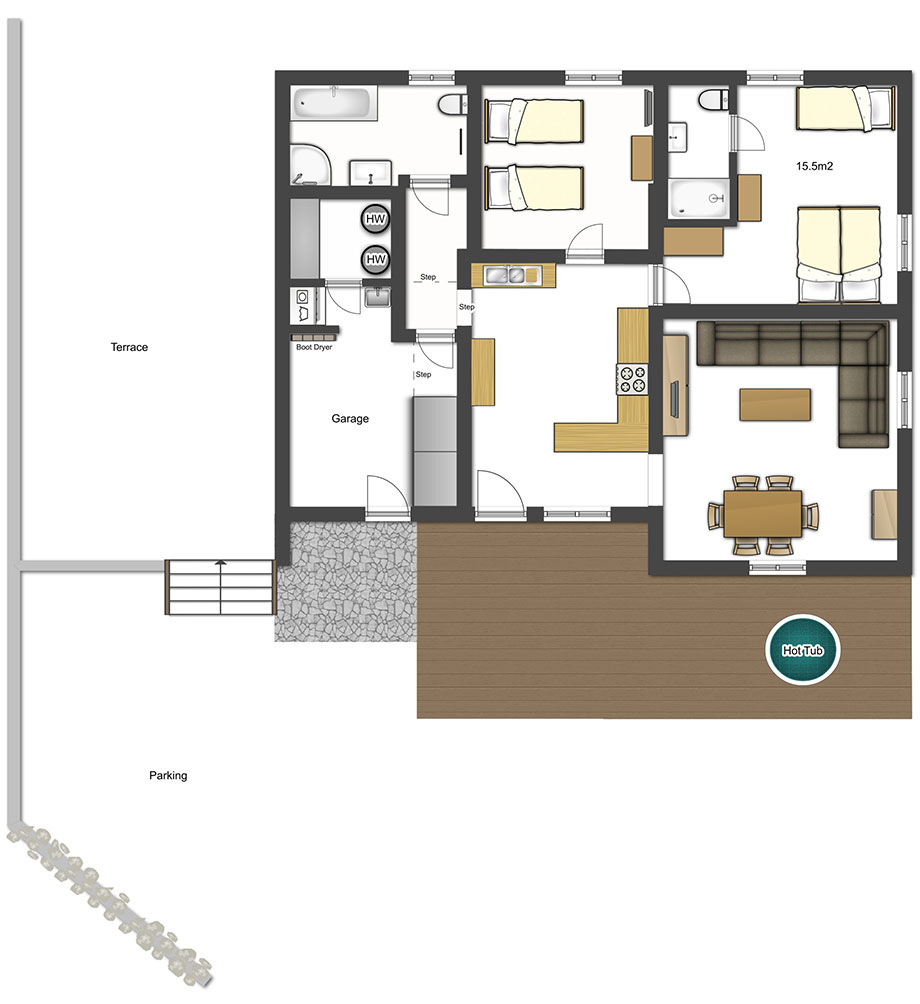 The petit farmhouse more mountain for 100 sq meters house floor plan