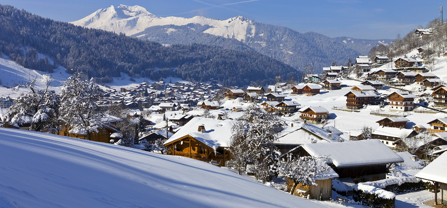 Morzine in snow