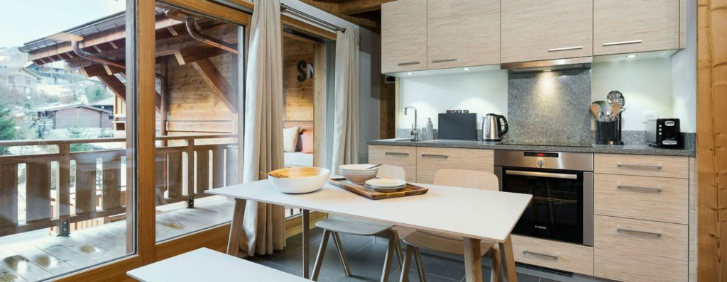 Chalet Moose kitchen - Luxury Self Catered Townhouse Morzine